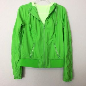Lululemon | Neon Green Tracker Jacket